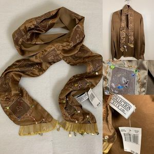 Collection XIIX Accessory Scarf Boho Beaded NWT